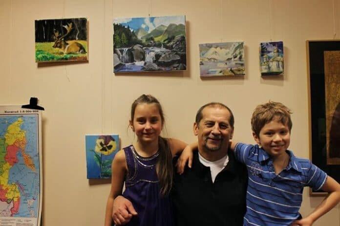 В.Сичков с учениками