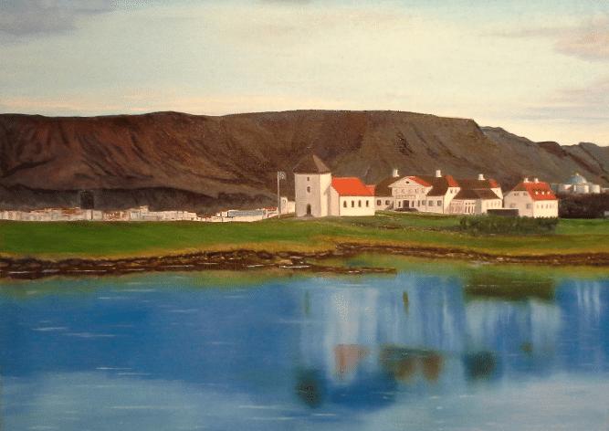 А.Плугари. Резиденция Президента Исландии. Масло, холст. 2015 г.