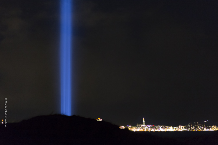 Imagine Peace Tower 2018, Viðey Фото Maria Ylfa Lebedeva