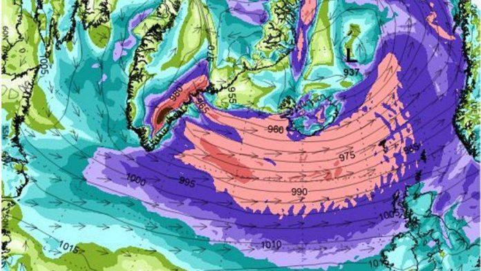 Шторм в Исландии ожидается 7 декабря // Источник: Veðurstofa Íslands