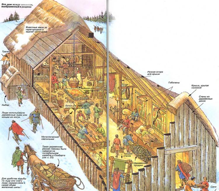 Длинный дом викингов (с описанием)
