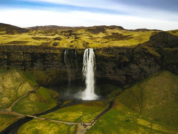 Iceland's Seljalandsfoss waterfall. Photographer: Alex Mustaros