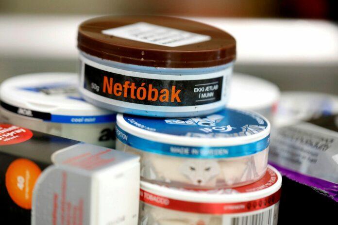 Банки с никотиновыми подушечками исландского нюхательного табака