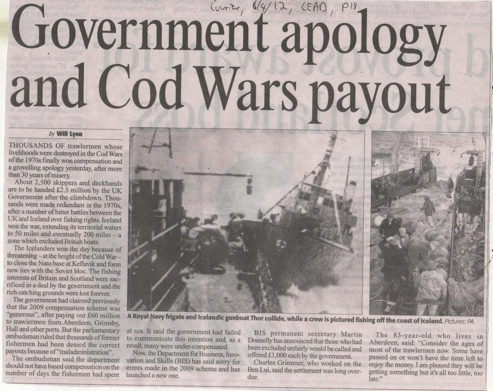 2012.04.06 - Government Apology And Cod Wars Payout