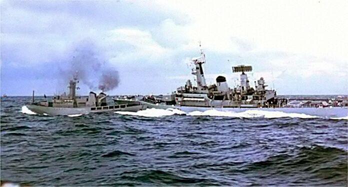Столкновение исландского патрульного катера Óðins и британского фрегата Scylla в ходе Третьей тресковой войны 23 февраля 1976 года