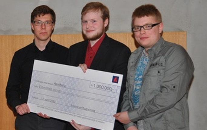 Победители конкурса по созданию IslendingaApp. Фото DeCode Genetics