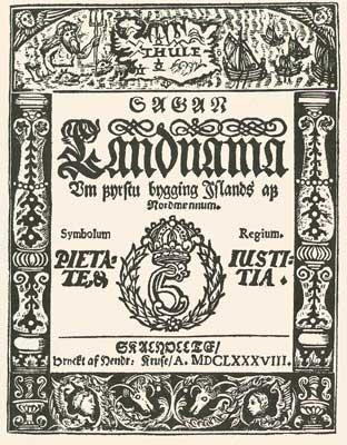 Книга о занятии земли Landnámabók