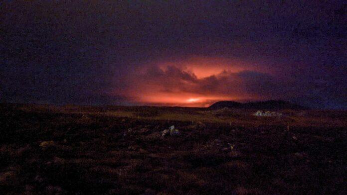 Извержение вулкана Fagradalsfjall в марте 2021 // Источник: Nanna Höjgaard Grettisdóttir