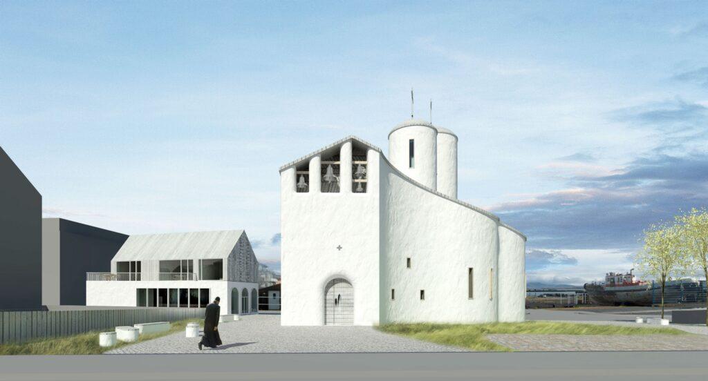 Проект православного храма в Рейкьявике. Фото предоставлено приходом