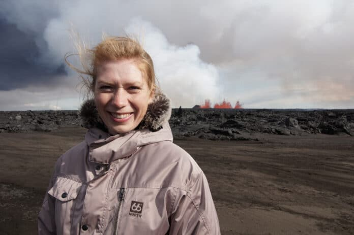 Исландский вулканолог Евгения Ильинская // Источник: личный архив Евгении Ильинской