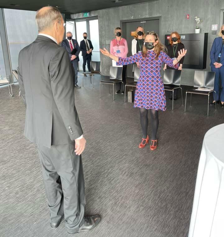 Встреча Сергея Лаврова с Катрин Якобсдоттир. Фото из ФБ Марии Захаровой