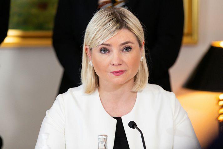 Министр культуры исландии Лилия Альфресдоттир (Lilja Alfreðsdóttir)