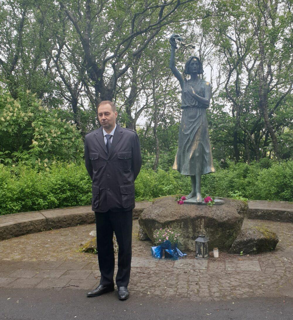 Посол РФ в Исландии Носков М.В, Фоссвогур, Рейкьявик. 22 июня 2021 г. Фото: А.Нерман