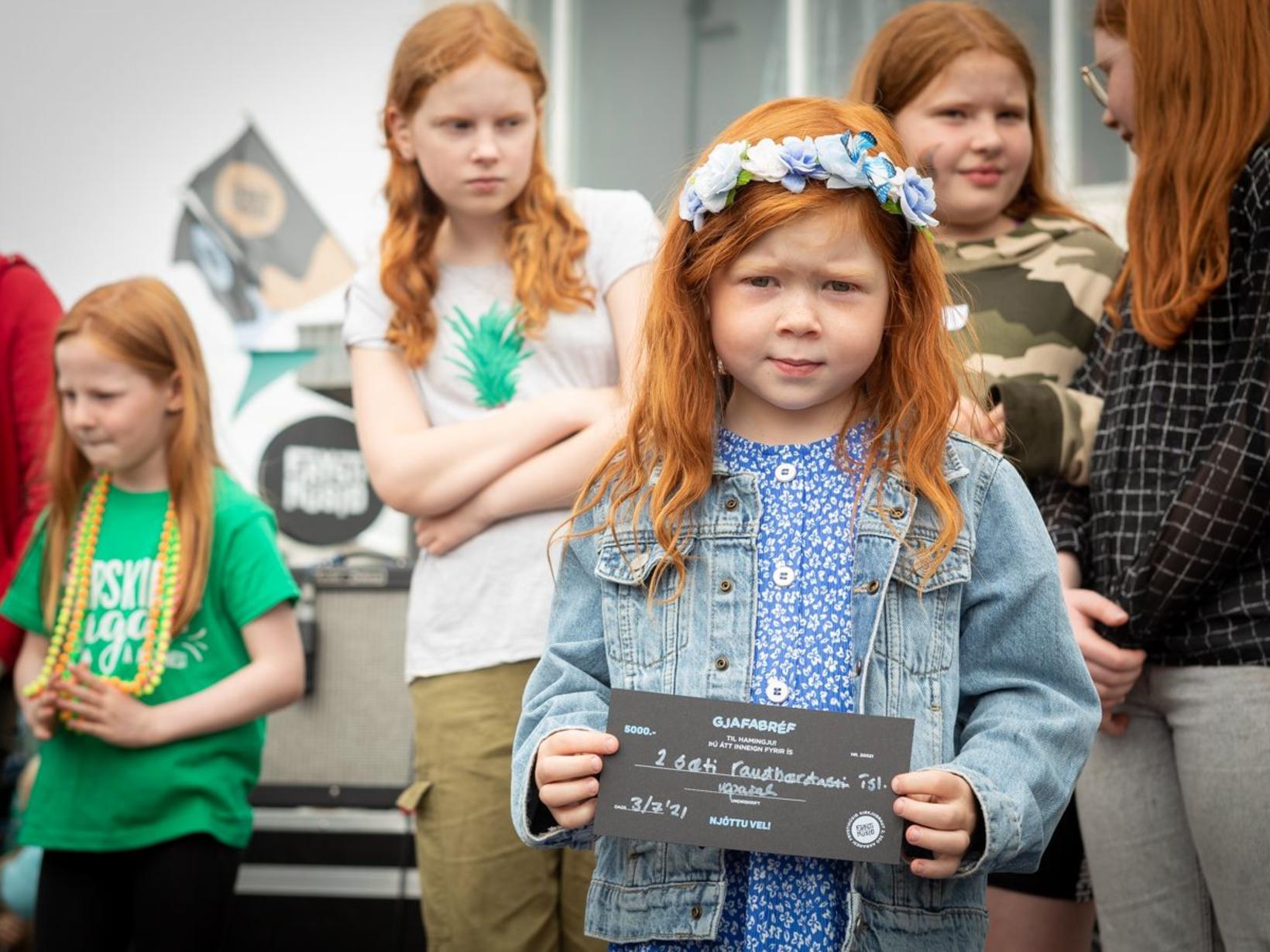 Хельга Дис заняла 2-е место в конкурсе на самого рыжего исландца. Фото / Сунна Гаутадоттир