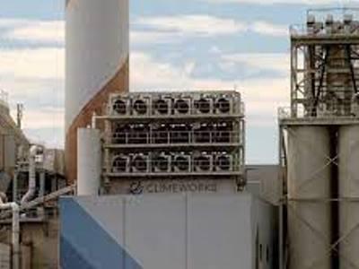 Устройство для улавливания воздуха на одном из объектов компании Climeworks в Швейцарии